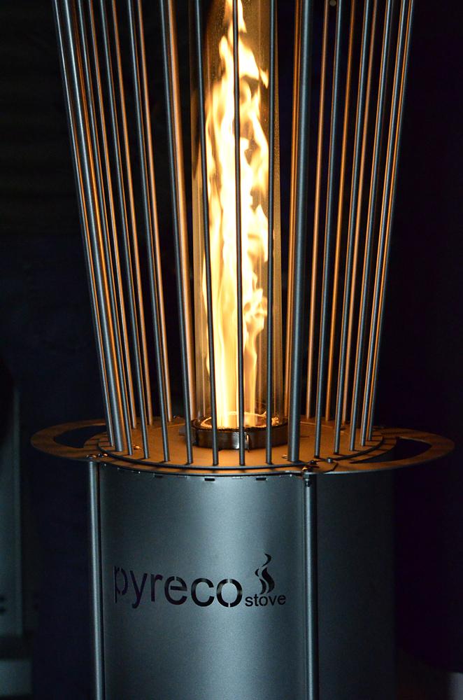 Fungo riscaldante a pellet pirolitico stufa per esterni for Bruciatore a pirolisi